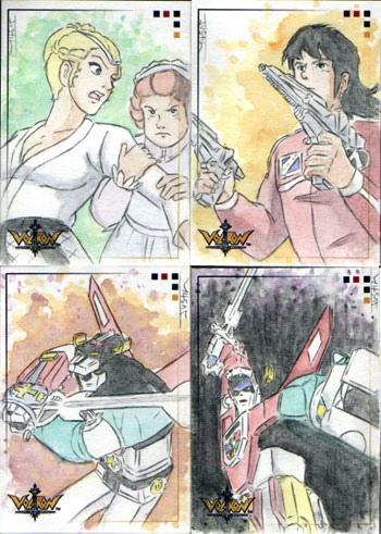 Justin Chung Voltron Defender of the Universe Sketch Cards