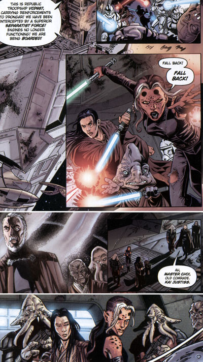 Star Wars: Jedi -- Count Dooku/Star Wars: Clone Wars Volume 4 - Light and Dark: Kai Justiss, Tsui Choi and Sian Jeisel captured by Count Dooku