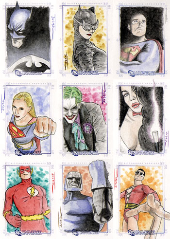 Justin Chung DC Legacy Sketch Cards