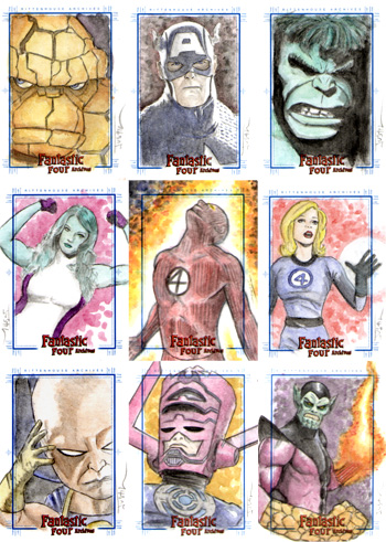 Justin Chung Fantastic Four Archives Sketch Cards