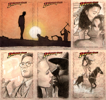 Justin Chung Indiana Jones Sketch Cards