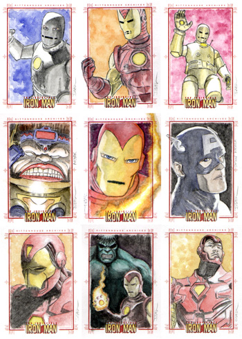 Justin Chung Iron Man Sketch Cards
