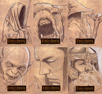 Justin Chung Lord of the Ring Masterpieces Sketch Cards