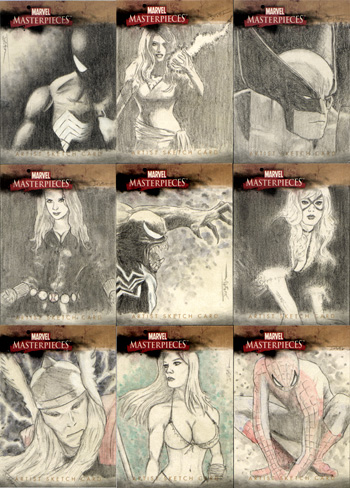 Justin Chung Marvel Masterpieces II Sketch Cards