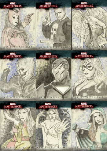 Justin Chung Marvel Masterpieces III Sketch Cards