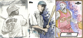 Justin Chung Baseball and Basketball Sketch Cards